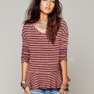 Free People Auntie Em Thermal Top in Sedona Red